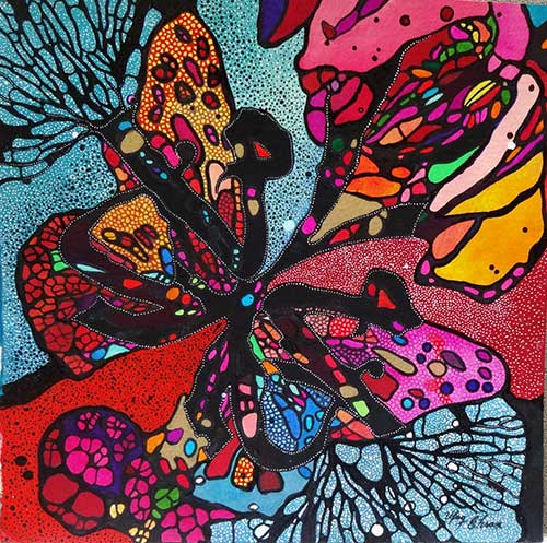 Butterfly1---12x12-inches---Mixed-media-on-paper